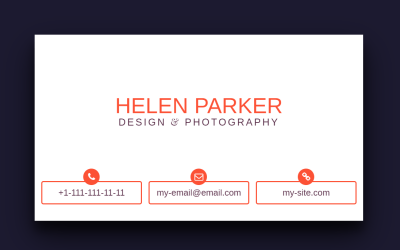 3D Flip HTML Business Card CSS Styles