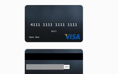 Credit Card CSS UI Template Design