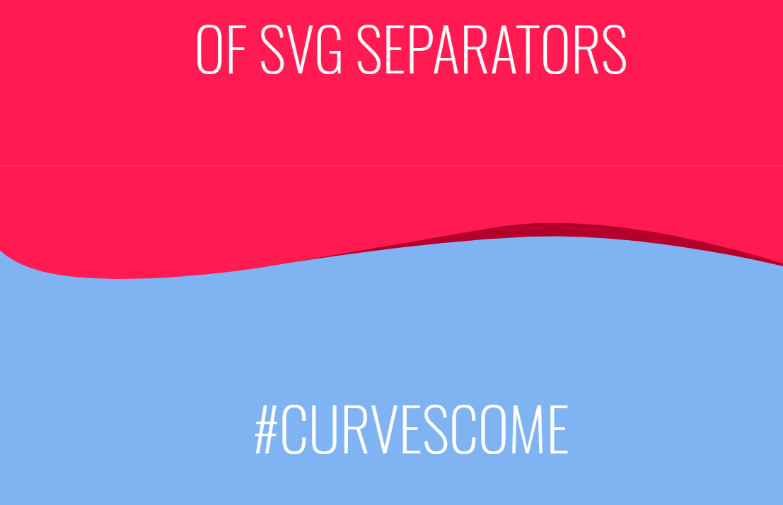 CSS And SVG Website Separators Example