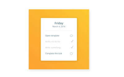 CSS Custom Checkbox Todo List UI Animation