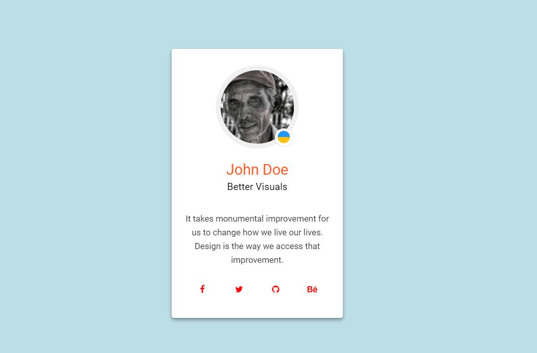 CSS Material Design Profile Card