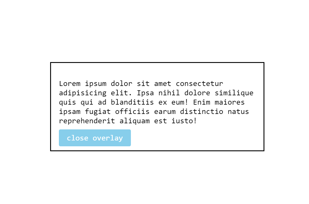 CSS Only Modal Window Toggle Example