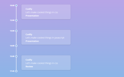 CSS Only Vertical Timeline Design Example