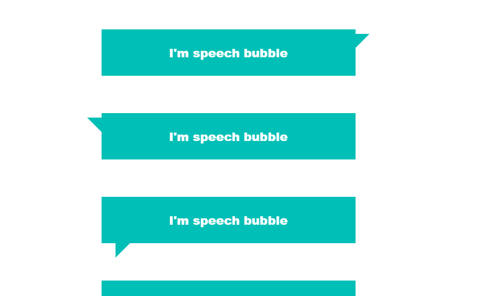 Different Style Speech Bubble Using HTML And CSS