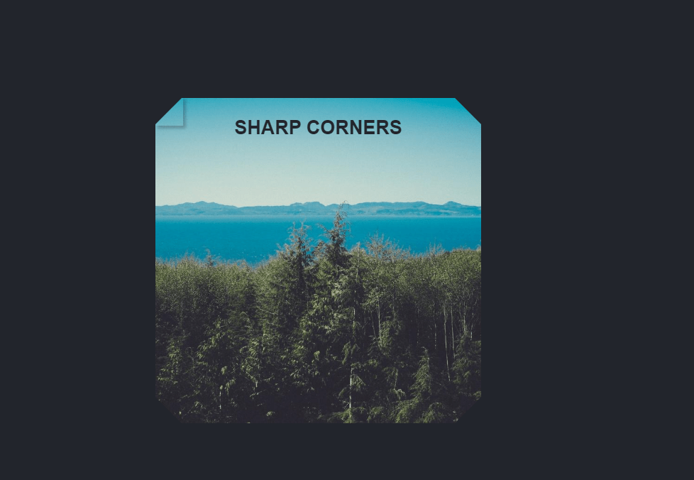 Dynamic Sharp Corners SCSS Code Snippet