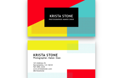 Geometric Business Card with CSS Grid