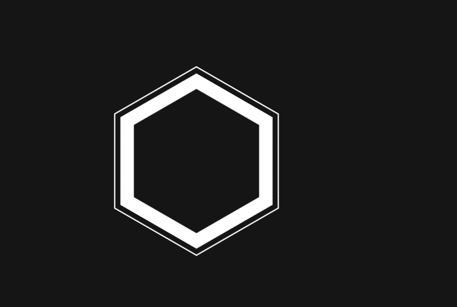 Hexagonal Button CSS Border Hover Effect