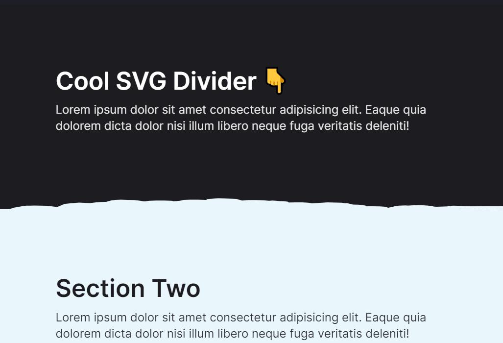 HTML CSS Horizontal Section Divider Design