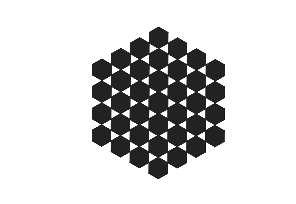 HTML Hexagon Grid Pierced Animation