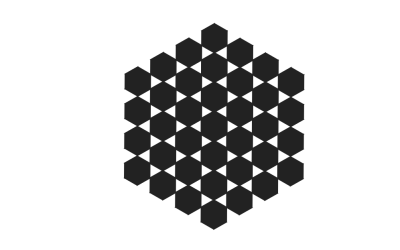 HTML Hexagon Grid Pierced Animation