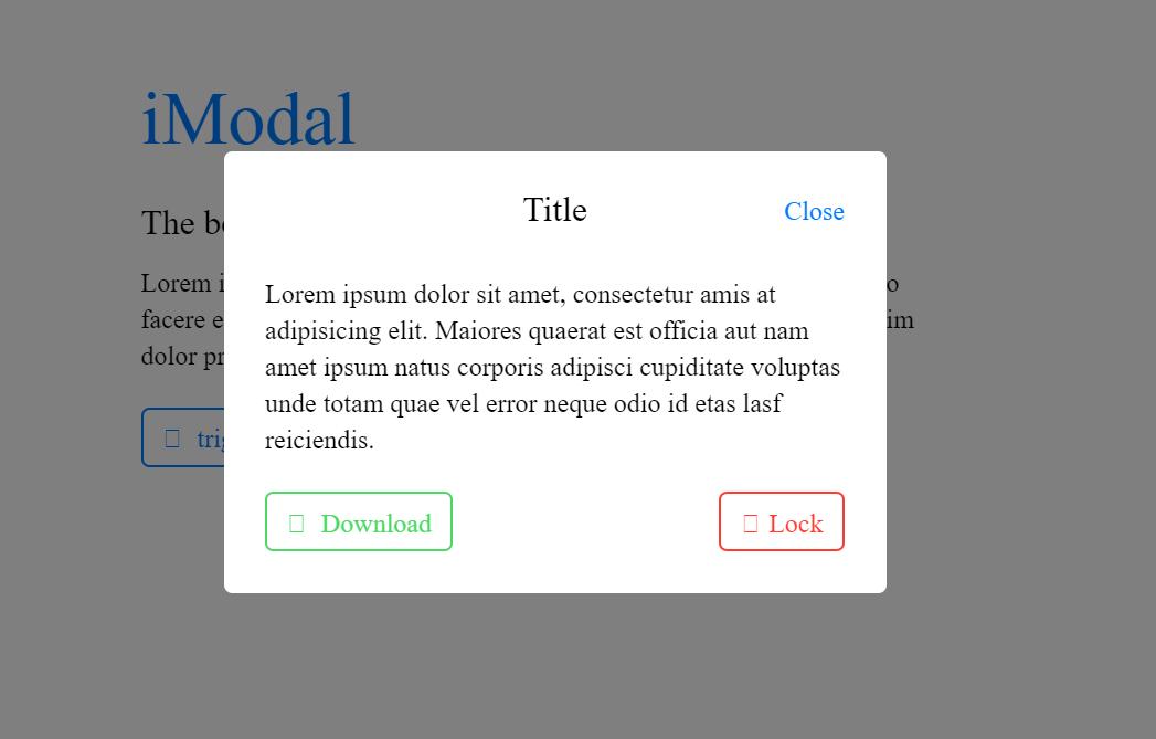 iOS Style Simple CSS Modal Dialog