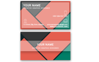 Material Design Business Card with CSS Grid