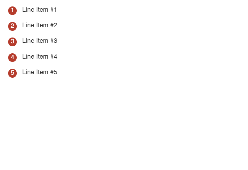 Ordered List with CSS Counters Code Snippet