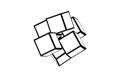Pure CSS Cube Rotate Effect Code Snippet