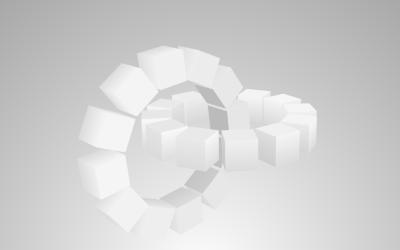 Pure CSS Shaded Cube Wheels Firefox Design