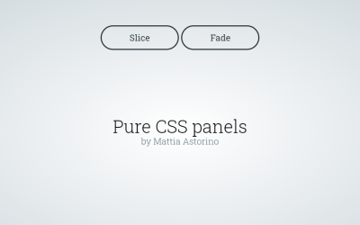 Pure CSS Slide And Fade Panel Design