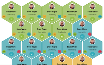 Responsive Hexagon Grid Layout CSS Snippet