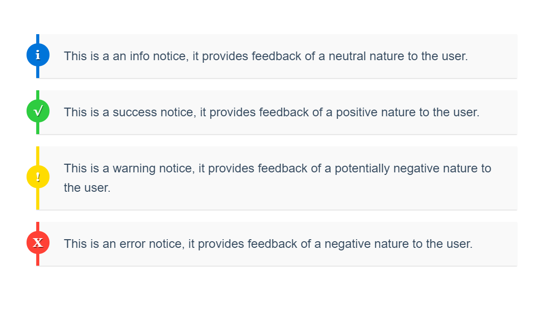 Simple CSS Notification Boxes Example
