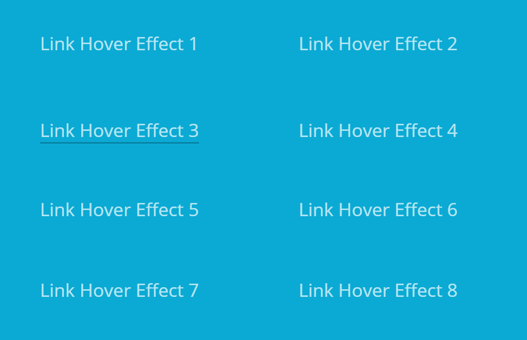 Simple Web Link Hover Effects Using HTML CSS