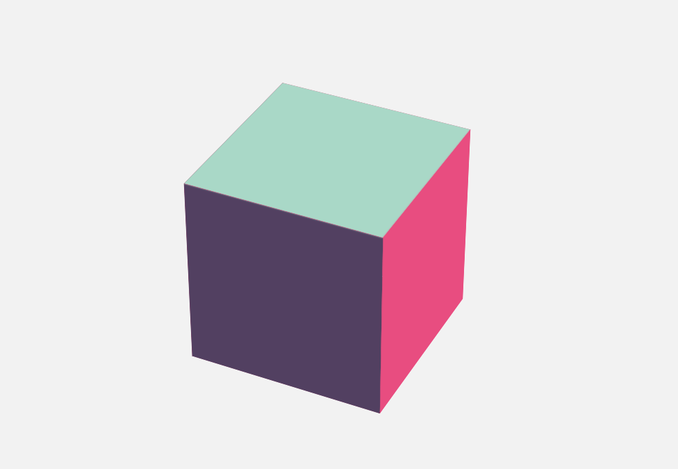 Spinning 3D Cube Pure CSS Animation