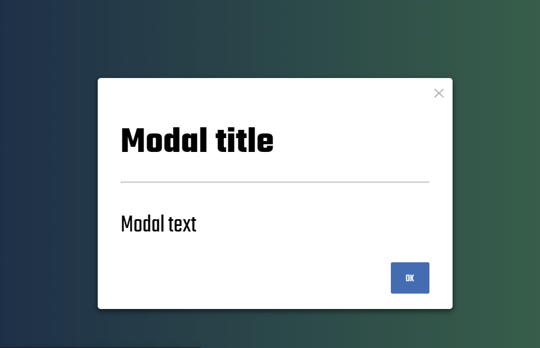 Website Dialog Box CSS Only Code Snippet