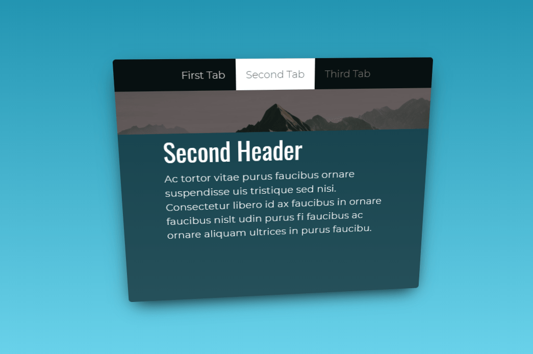 3D Vue Tabs Design Using Tilt.js