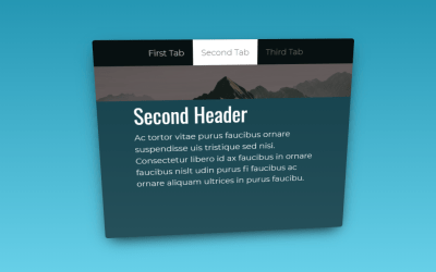 3D Vue Tabs Design Using Tilt.js