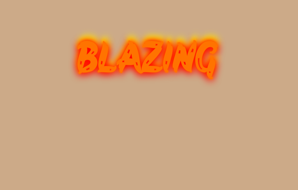 Blazing Fire HTML Text Shadow Effect Using CSS3
