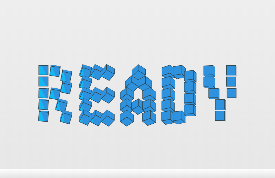 Cool CSS Megaman Ready Text Animation