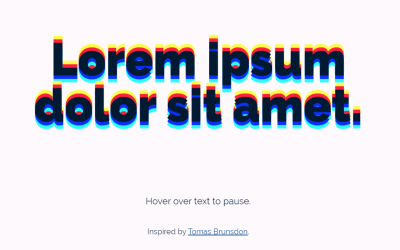 CSS Animated Text-Shadow RGB Separation