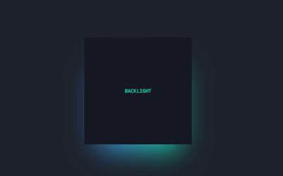 CSS Glow Effect Animation Block