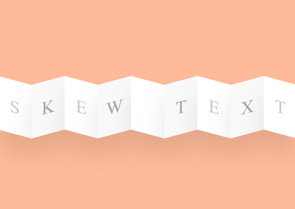 CSS Only Skew Text on Hover