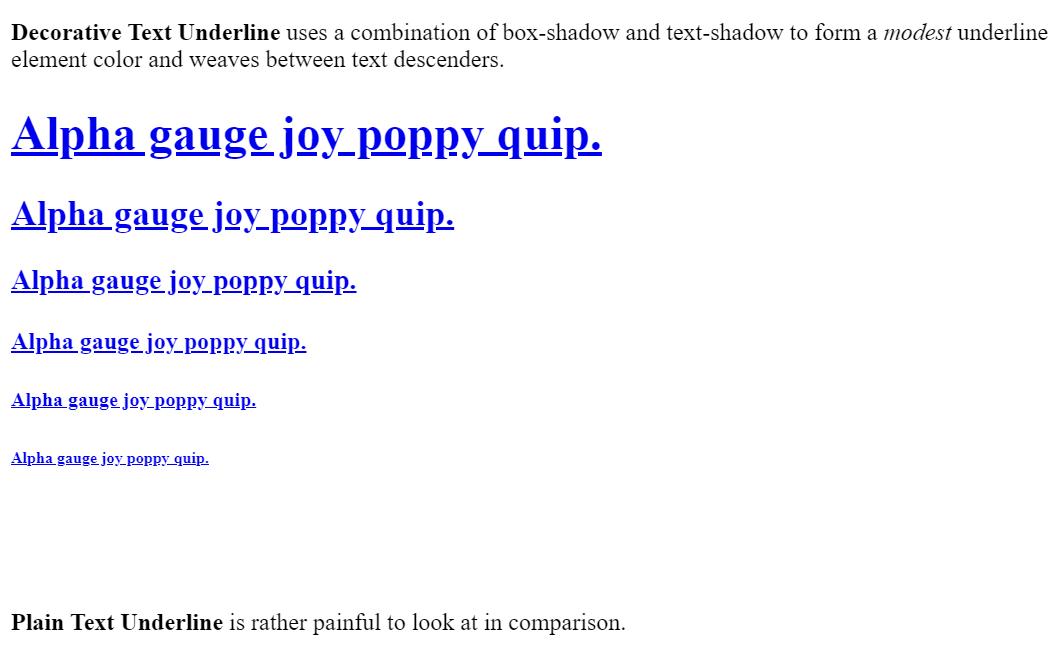 CSS Text Decoration Underline Example