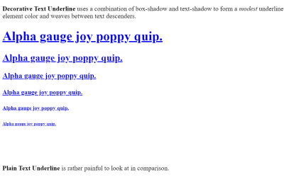 CSS Text Decoration Underline Example
