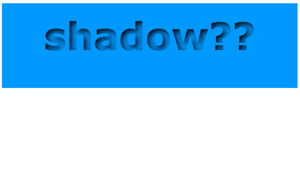 CSS Text Inner Shadow Design Code