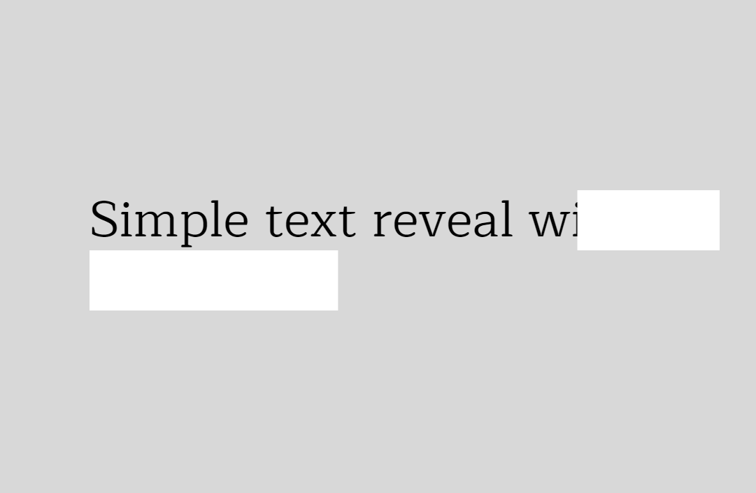 CSS Text Reveal Animation Snippet