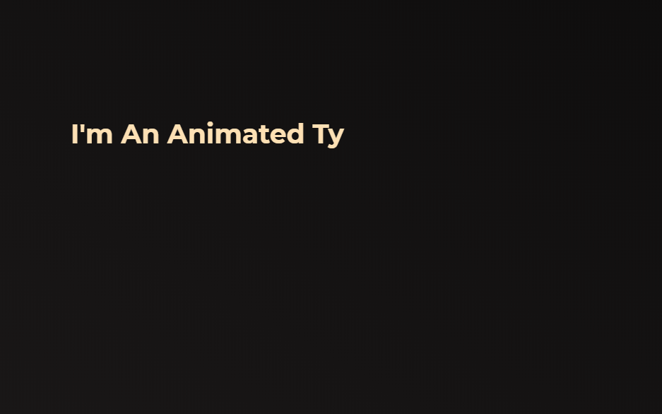 CSS Typing Text Animation Effect Example