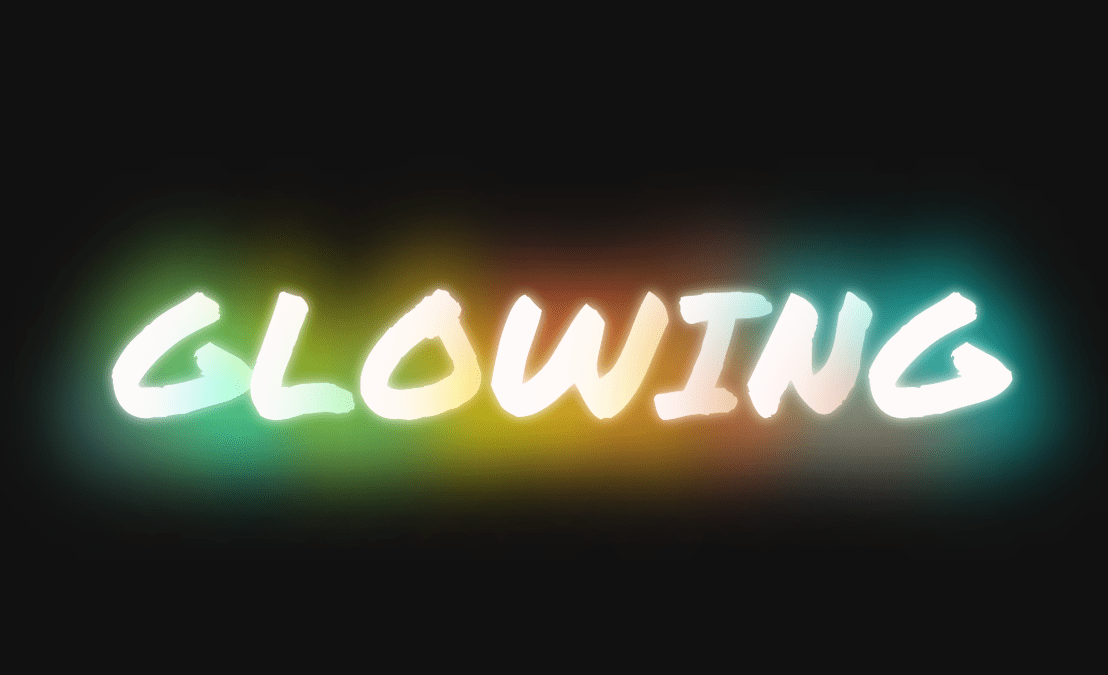 Glowing Text HTML CSS Code Snippet