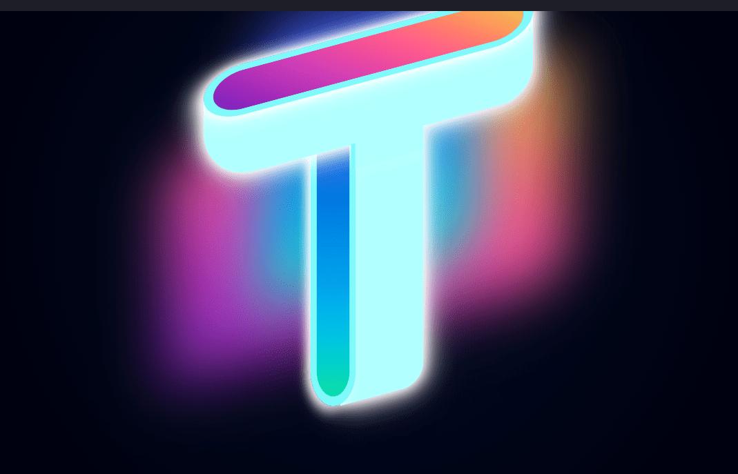 Gradient Glow Letter CSS Example