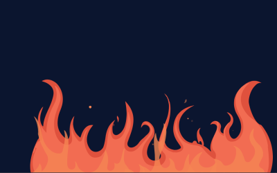 HTML Fire Animated Effect CSS Code
