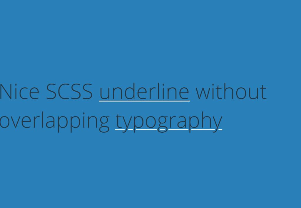 HTML Font Typography Underline Example