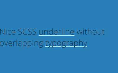 HTML Font Typography Underline Example
