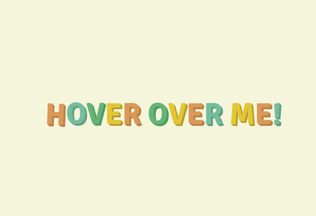 HTML Hover Over Text Animation Effect