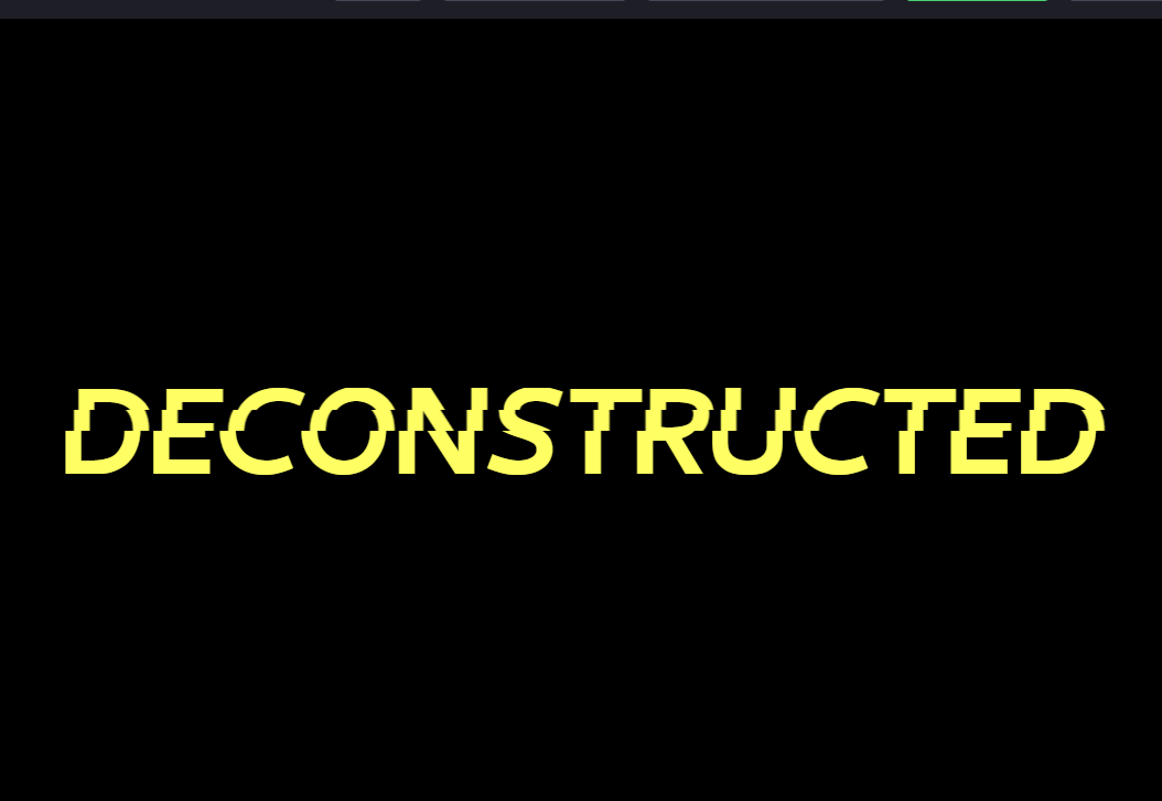 HTML Text Effects Slice Split Example