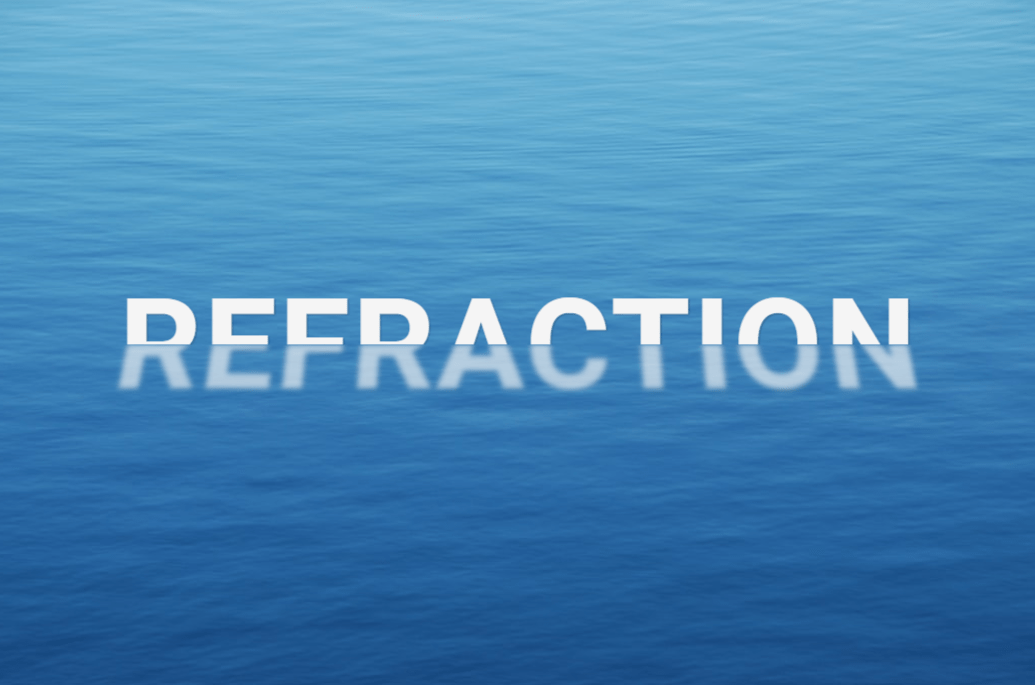 Refracted CSS Floating Text Effect