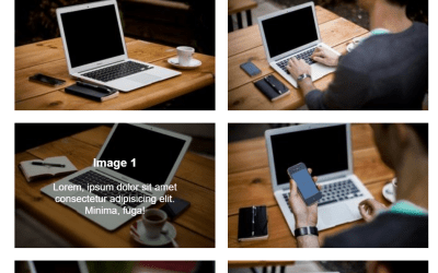 Scale Image Text Overlay Using HTML CSS