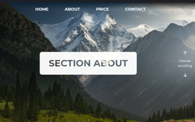 Scroll Effects CSS Landing Page