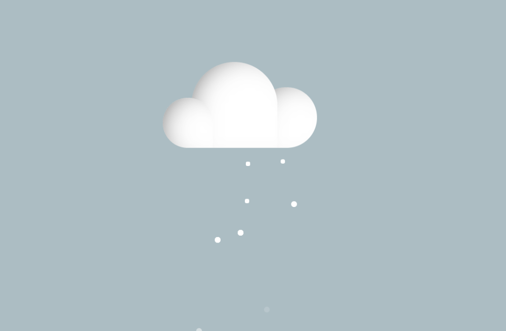 Simple CSS Snow with Cloud Design