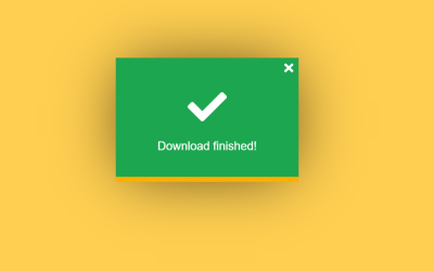 Simple Download Button Animation Using Vue.js