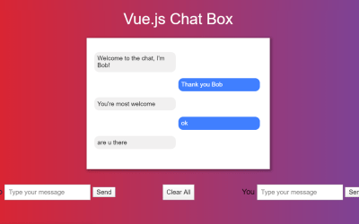 Vue.js Chat Box Code Example